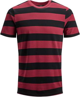 Jack and Jones Short-Sleeve Striped Crew Neck Tee