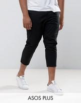 Asos Plus Skinny Super Crop Chinos In Black