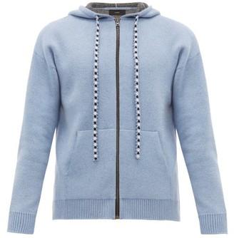 Alanui Bandana Wool-blend Hooded Sweatshirt - Mens - Blue
