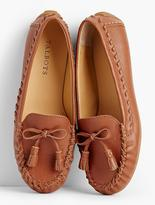 Talbots Everson Whipstitched Driving Moccasins-Pebbled Leather