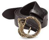 Saint Laurent Textured Leather Belt