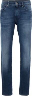 HUGO BOSS Slim Fit Jeans In Mid Wash Denim - Blue