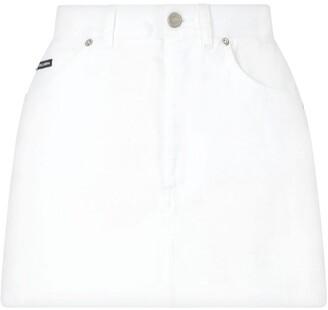 Dolce & Gabbana high-rise A-line mini skirt