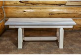 """Abella Wood Bench Loon Peak Color: Ready To Finish, Size: 18"""" H x 72"""" W x 18"""" D"""
