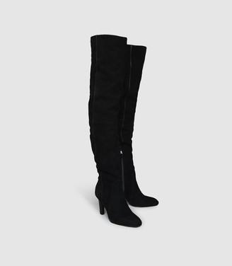 Reiss Raquel - Suede Over The Knee Boots in Black