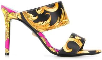 Versace Baroque print 100 sandals