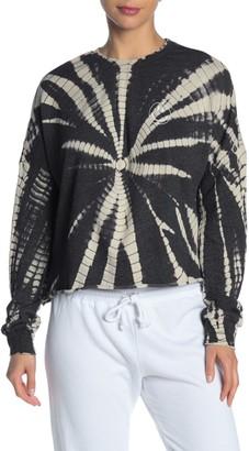 Betsey Johnson Tie-Dye Raw Hem Sweater