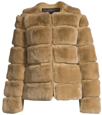 Pologeorgis Horizontal Rabbit Fur Jacket