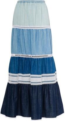 Miu Miu Chambray Denim Maxi Skirt