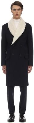 Loewe Coat W/ Faux Shearling Collar