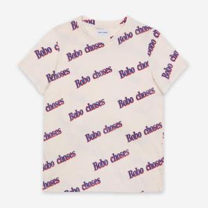 Bobo Choses Short Sleeve T-Shirt - organic cotton | ecru | XS - Ecru