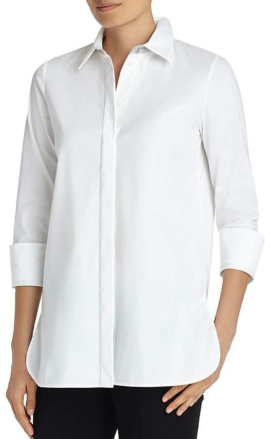 Lafayette 148 New York Augusta Collar-Detail Shirt