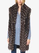 Michael Kors Fox Fur Tweed Vest