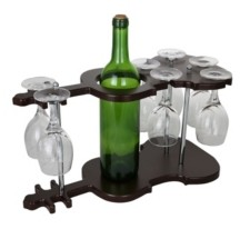 Orient Three Star Guitar Shaped Bottle and Glasses Holder