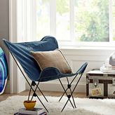 PBteen Denim Enzyme-Washed Butterfly Chair