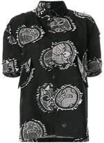 Henrik Vibskov I Love You 2 patch appliqué shirt