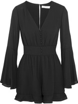 Alexis Martine silk organza-trimmed crepe playsuit