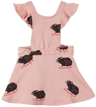 Mini Rodini PRINTED COTTON SWEATSHIRT DRESS