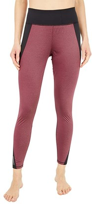 Puma Studio Metallic High-Rise 7/8 Tights (Burgundy) Women's Casual Pants