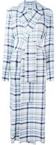 MSGM belted checked coat