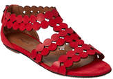 Alaia Lazer Cut Leather & Suede Sandal