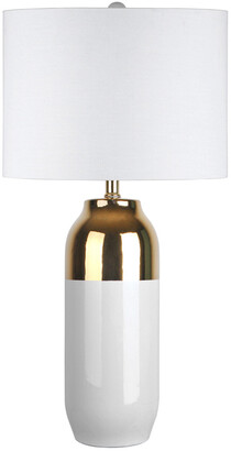 nuLoom 25In Nicole Ceramic Linen Shade Table Lamp