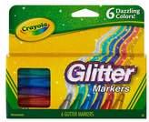 Crayola Glitter Markers 6ct