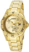Invicta Women's 12508 Pro Diver Tone Dial 18k Ion-Plated Stainless Steel Watch