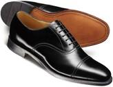Charles Tyrwhitt Black Carlton toe cap Oxford shoes