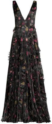 Flor Et. Al Nicole Ruffled Floral Gown