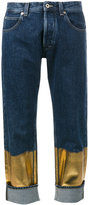 Loewe contrast panel boyfriend jeans - women - Cotton - 40