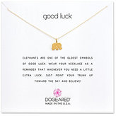 Dogeared Good Luck Elephant Charm Delicate Gold-Dipped Sterling Silver Necklace
