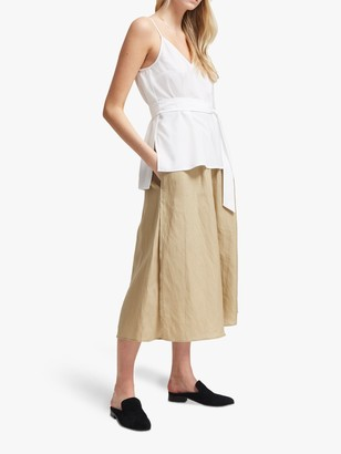 French Connection Crepe Belted Cami Top, Summer White