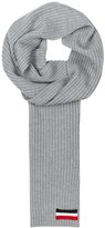 Moncler Grey Ribbed-knit Wool Scarf