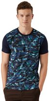 Frank + Oak Borealis Print T-Shirt in Blue