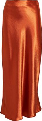 Aiifos Linda Metallic Satin Midi Skirt
