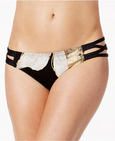Carmen Marc Valvo Metallic Strappy Bikini Bottoms