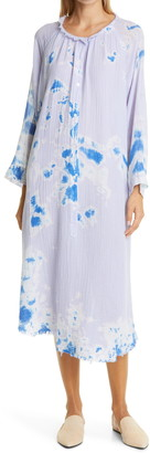 Raquel Allegra Poet Tie Dye Long Sleeve Midi Dress