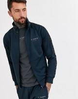 Il Sarto taped zip thru tracksuit sweater-Navy