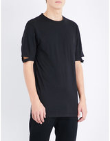 Helmut Lang Notched Sleeve Cotton-jersey T-shirt