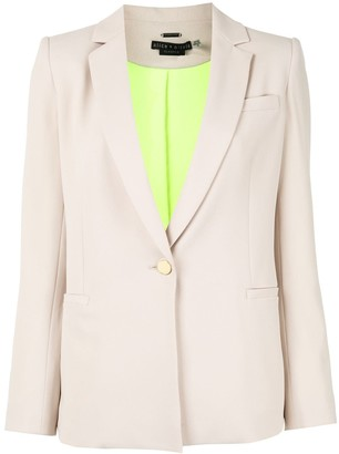 Alice + Olivia Single-Breasted Fitted Blazer