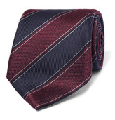 Canali - 8cm Striped Silk-jacquard Tie