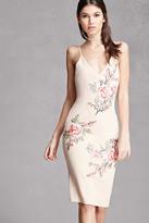 Forever 21 FOREVER 21+ Selfie Leslie Rose Print Slip Dress