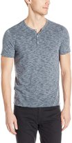 John Varvatos Men's Short Sleeve Striped Henley
