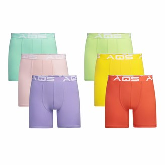 Aqs International AQS Men's Boxer Briefs 6-Pack (Large)