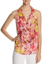 T Tahari Lynna Sleeveless Floral-Print Top