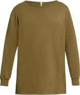 Loewe Destroyed-neck long-sleeved cotton T-shirt