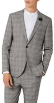 Topman Men's Skinny Fit Check Suit Jacket