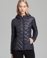 AQUA Puffer Jacket - Hoody Knit Side