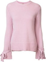 ADAM by Adam Lippes tie cuff sweater - women - Merino - XS